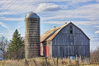 Photograph - Old Barn And Silo  by Tatiana Travelways