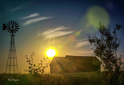 Photograph - Old Barn And The Sky by Philip Rispin