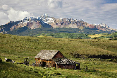 Old Barn And Wilson Peak Horizontal Art Print