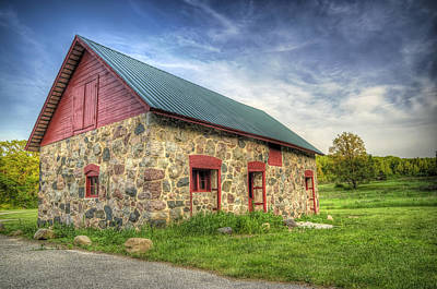 Masonry Photograph - Old Barn At Dusk by Scott Norris