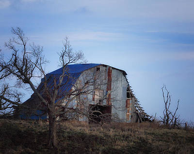Old Barn At Hilltop Arkansas Art Print