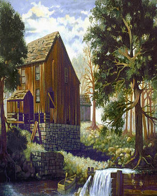 Old Barn At Riverbend Print by Donn Kay