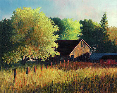 Painting - Old Barn At Sunrise by Douglas Castleman