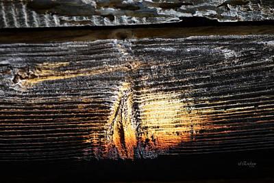 Photograph - Old Barn Board Sunset by rd Erickson