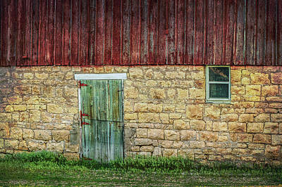 Photograph - Old Barn Door And Window by Patti Deters