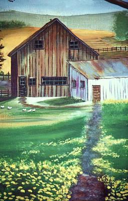 Old Barn Art Print by Eileen Blair