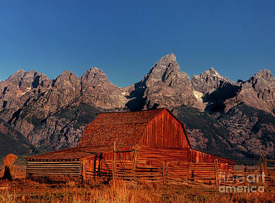 Photograph - Old Barn Grand Tetons National Park Wyoming by Dave Welling