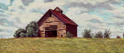 Painting - Old Barn by Hans Neuhart