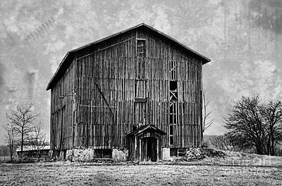 Photograph - Old Barn In Black And White by David Arment
