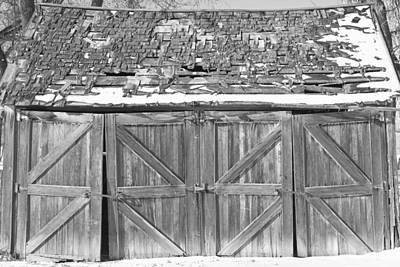 Photograph - Old Barn In Black And White by James BO Insogna