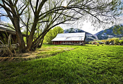 Digital Art - Old Barn In Eden Utah by James Steele
