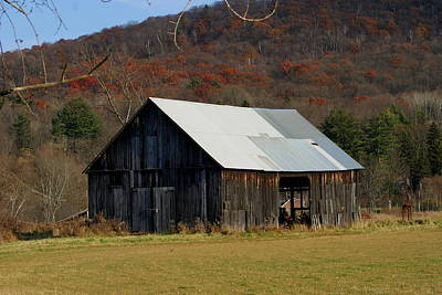 Old Barn In Fall Art Print by Lois Lepisto