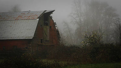 Photograph - Old Barn In Fog by Katie Wing Vigil