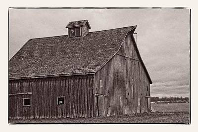 Photograph - Old Barn In Gray by Craig Perry-Ollila