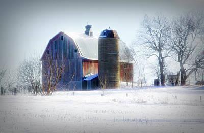 Animal Surreal - Old Barn in Snow by Susan Crossman Buscho