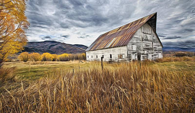 Old Barn In Steamboat,co Art Print