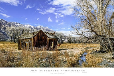 Photograph - Old Barn In The West by PhotoWorks By Don Hoekwater