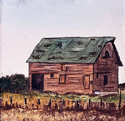 Painting - Old Barn Iowa by Kevin Callahan