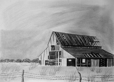 Old Barn Drawing - Old Barn by Jeff Noble