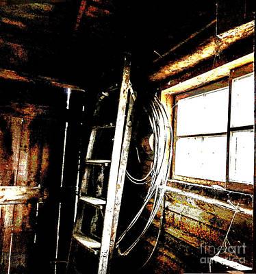 Old Barn Ladder Art Print by Deborah Nakano