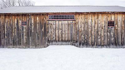 Photograph - Old Barn Musterfield Farm by Edward Fielding