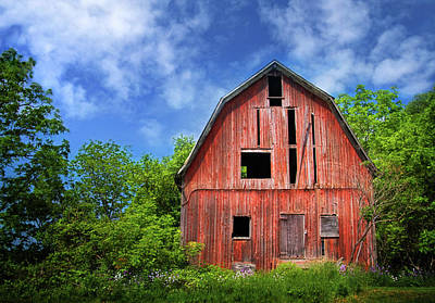 Photograph - Old Barn Near Cayuga Lake by Carolyn Derstine