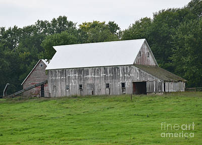 Photograph - Old Barn New Roof - 2 by Kathy M Krause