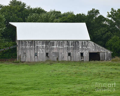 Photograph - Old Barn New Roof by Kathy M Krause