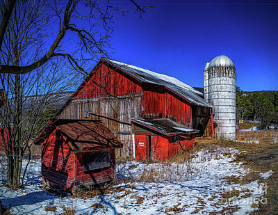 Photograph - Old Barn by Nick Zelinsky