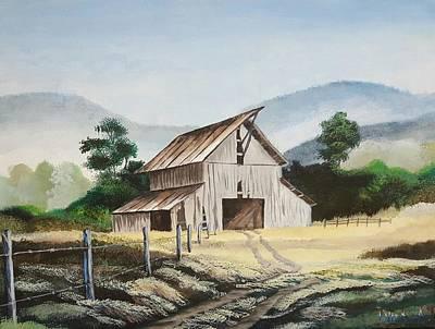 Old Barn Art Print by Nicolas Avet