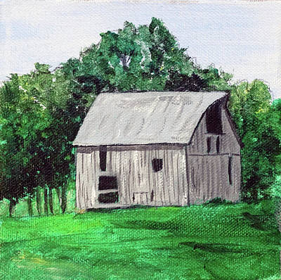 Painting - Iowa Barn No 1 2016 by Kevin Callahan