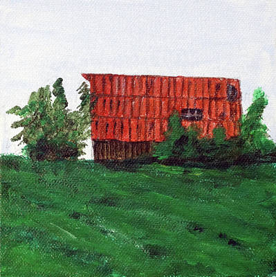 Painting - Iowa Barn No 2 2016 by Kevin Callahan