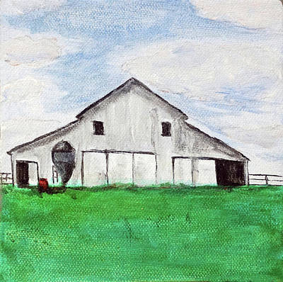 Painting - Iowa Barn No 3 2016 by Kevin Callahan