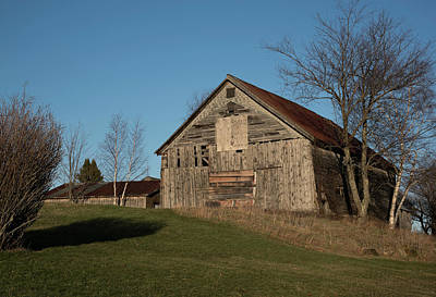 Old Barn On A Hill Art Print