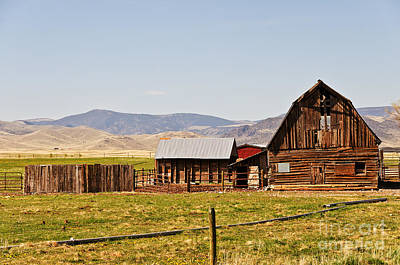 Photograph - Old Barn On A Ranch by Sue Smith