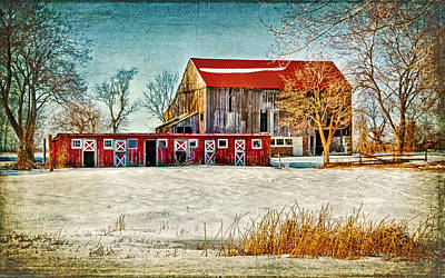Photograph - Old Barn On Forrest Road by Carolyn Derstine