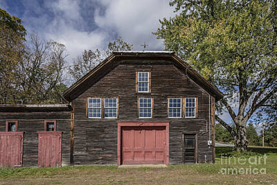 Red Doors Photograph - Old Barn Red Doors Windsor Vermont by Edward Fielding