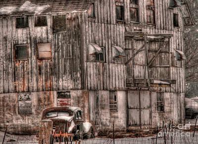 Photograph - Old Barn Redux by David Bearden