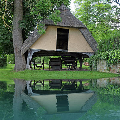 Photograph - Old Barn Reflections by Gill Billington