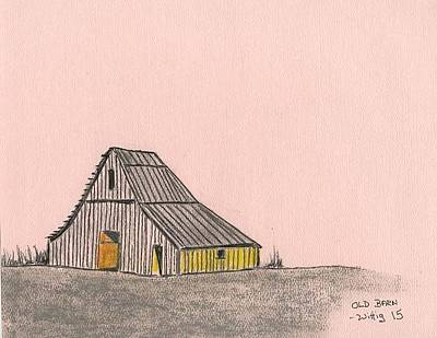 Old Barn Drawing - Old Barn by Robert Wittig