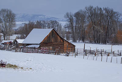 Photograph - Old Barn by Sean Allen