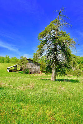 Photograph - Old Barn, Smith Mountain Lake by The American Shutterbug Society