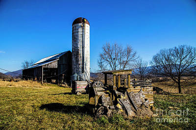 Landscapes Royalty-Free and Rights-Managed Images - Old Barn by Steve Kwiatkowski