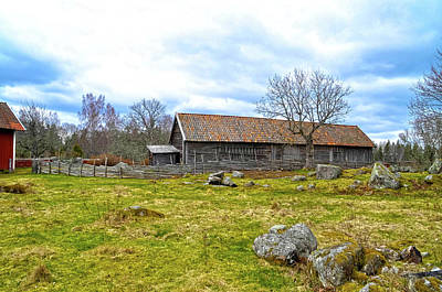 Photograph - Old Barn by Thomas M Pikolin