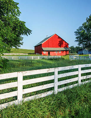 Clear Sky Photograph - Old Barn by Todd Klassy