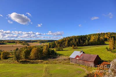 Painterly Photograph - Old Barn by Veikko Suikkanen