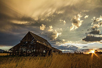 Photograph - Old Barn by Wesley Aston