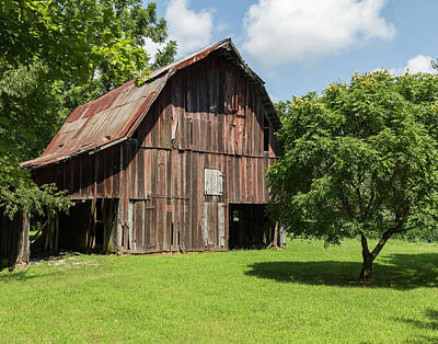 William Morris Photograph - Old Barn by William Morris