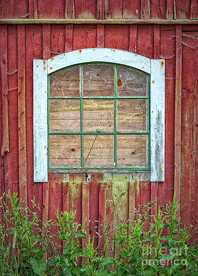 Photograph - Old Barn Window by Antony McAulay