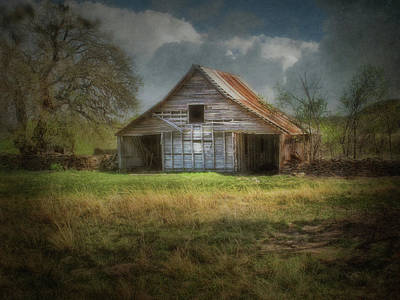 Photograph - Old Barn With Tin Roof by David and Carol Kelly